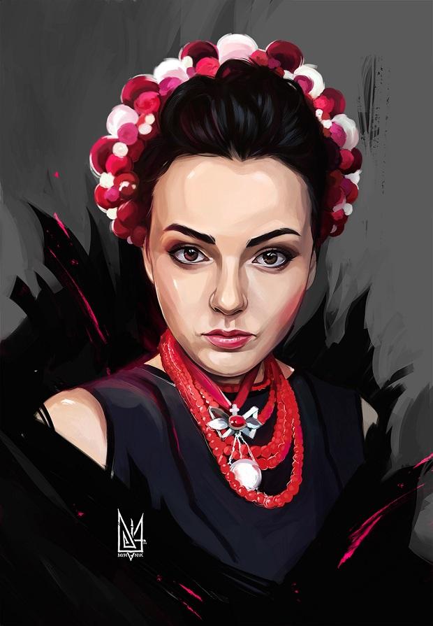 Запорожский художник написал серию портретов украинских волонтеров – ФОТО