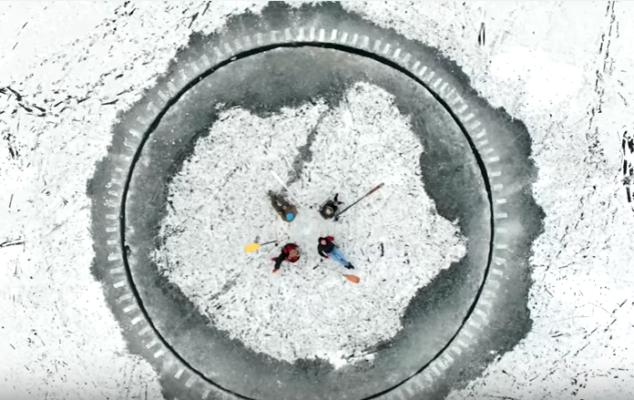 В Запорожье начала функционировать уникальная ледяная карусель (ВИДЕО)