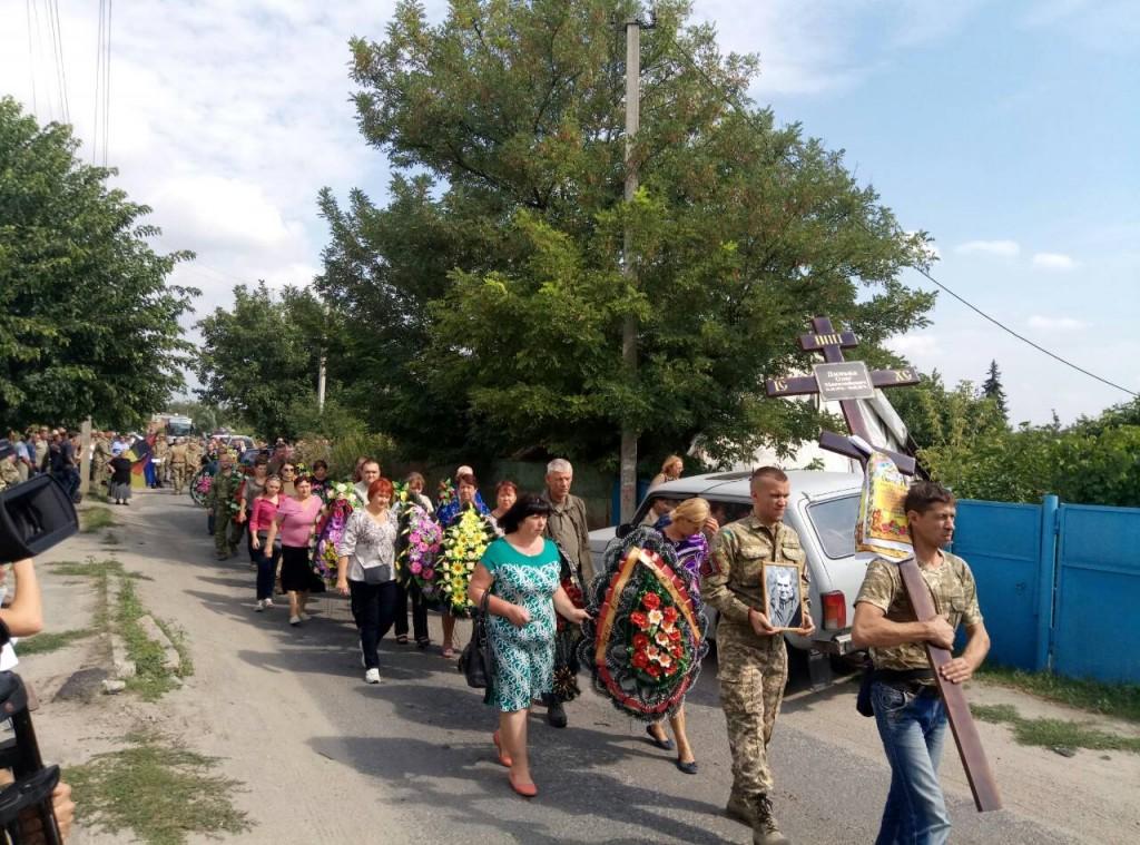 Под Запорожьем попрощались с добровольцем ДУКа Олегом Дынькой (ФОТО, ВИДЕО)