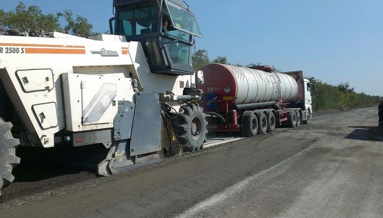 В Запорожской области начат ремонт трассы на Днепр (ФОТО)