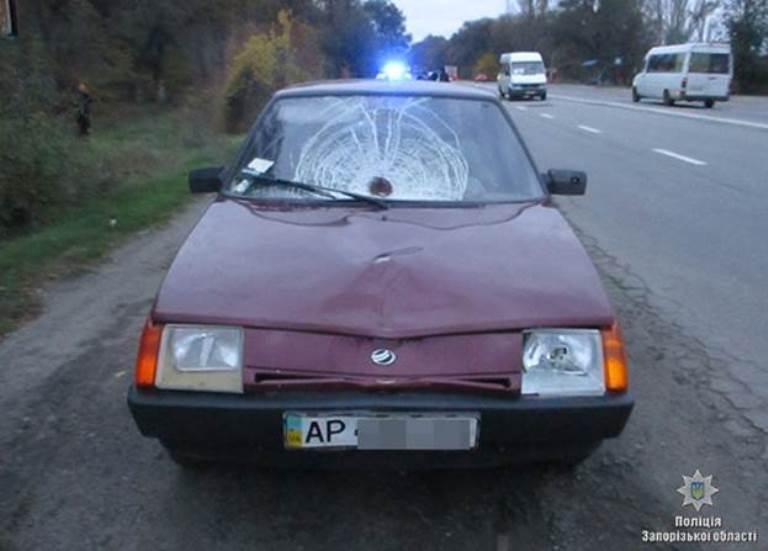 В Запорожье на трассе 80-летний водитель сбил насмерть пешехода (ФОТО)
