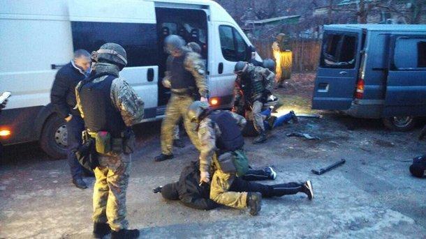 Появилось видео задержания псевдополицейских из «ДНР» в Запорожье