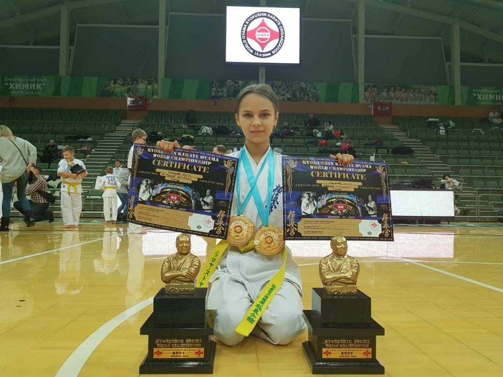 Юная запорожанка стала чемпионкой мира по киокушин ояма каратэ (ФОТО)