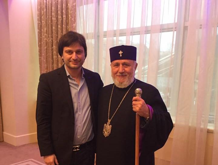 Запорожский общественник принял участие во встрече с Католикосом всех армян