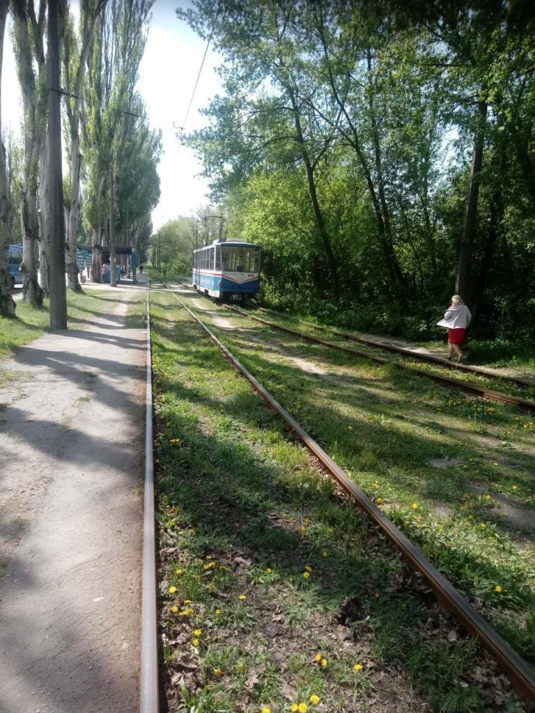 В Запорожье задымился очередной трамвай: водитель собиралась продолжить везти пассажиров (ФОТО, ВИДЕО)