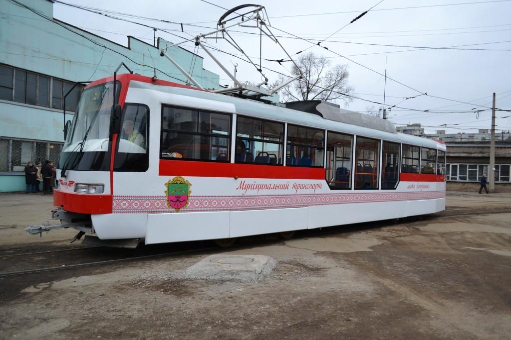 В Запорожье срывается поставка вагонов для новых трамваев
