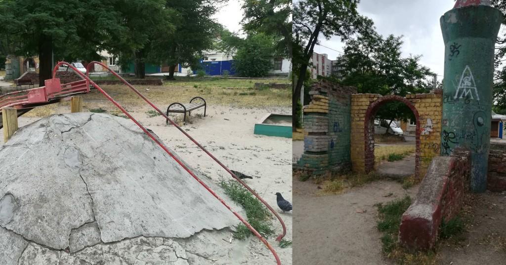 Опасное веселье: на игровых площадках Запорожья страшно оставлять детей (ФОТОРЕПОРТАЖ)