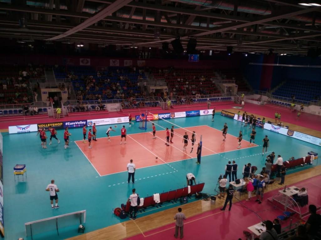 В Запорожье сборная Украины по волейболу одержала третью победу в отборе на Евро-2019