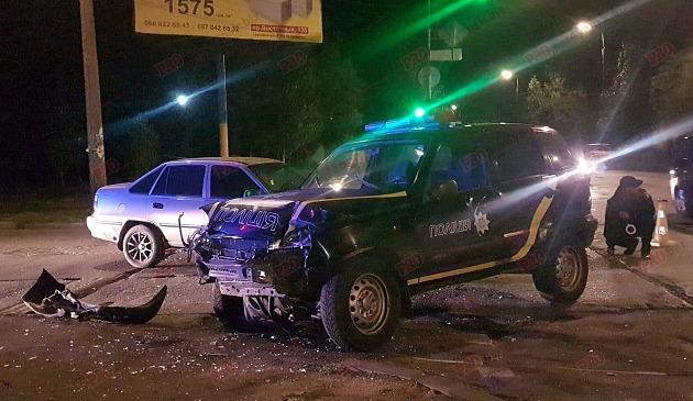 В Запорожской области авто полиции спровоцировало крупное ДТП (ФОТО)