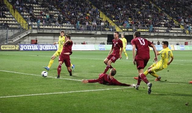 В Запорожье молодежная сборная Украины в упорном поединке победила Латвию (ВИДЕООБЗОР)
