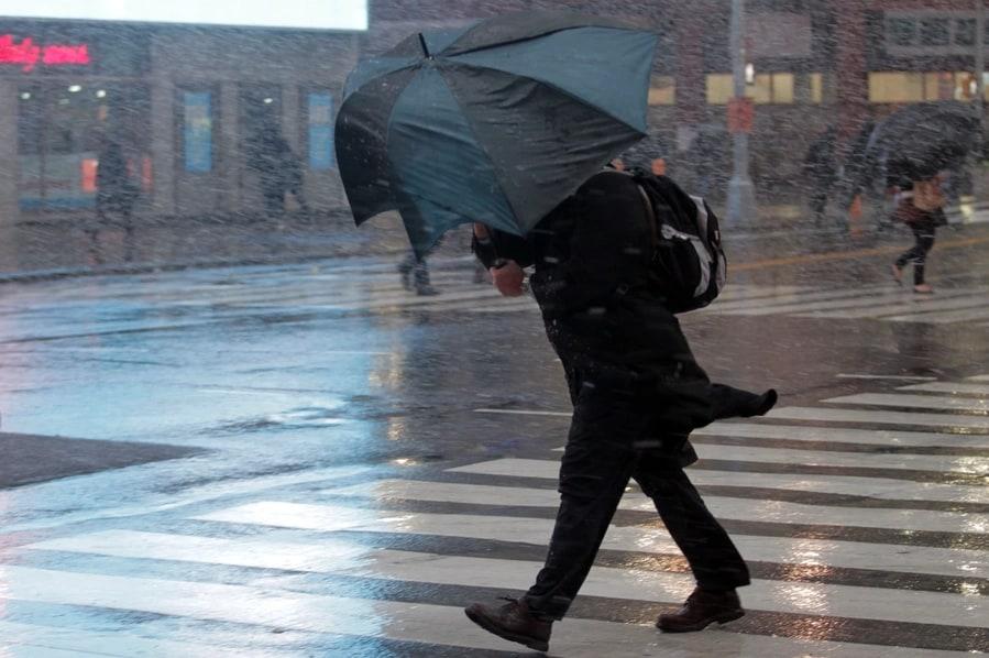 На запорожском курорте бушевала непогода: ветер ломал деревья и «сорвал» крышу