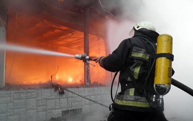 В Запорожской области горит студенческое общежитие (ВИДЕО)