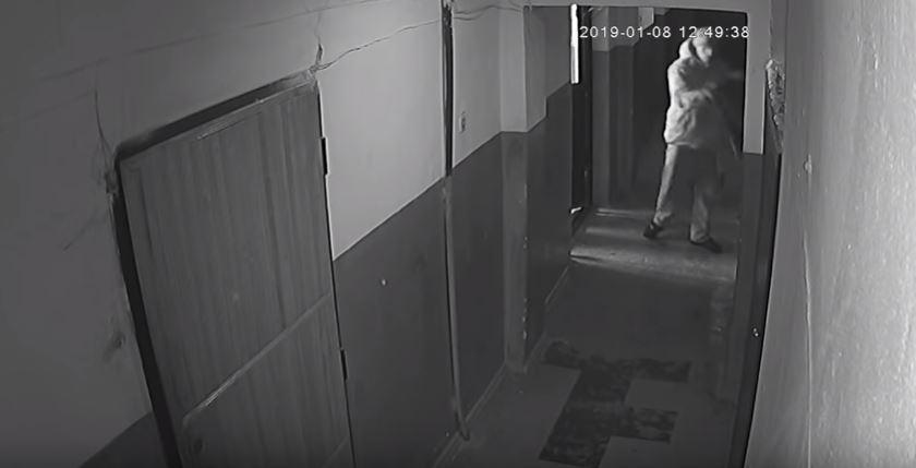 В Мелитополе объявился похититель ковровых дорожек (ВИДЕО)