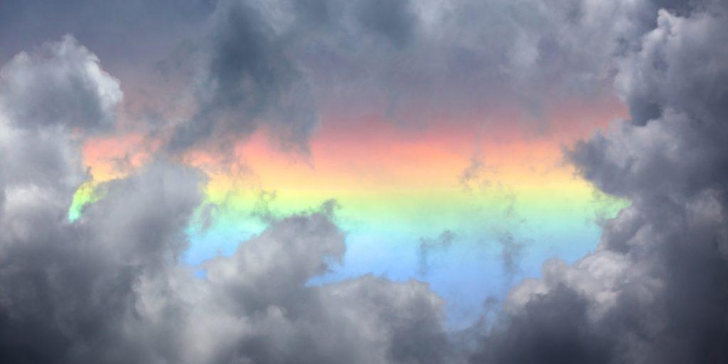 Выходные порадовали запорожцев первой весенней радугой (ФОТО)