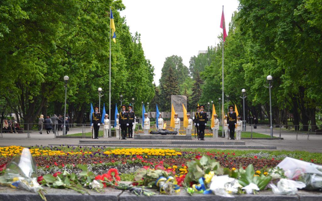 В Запорожье почтили память погибших во времена Второй мировой войны (ФОТОРЕПОРТАЖ)