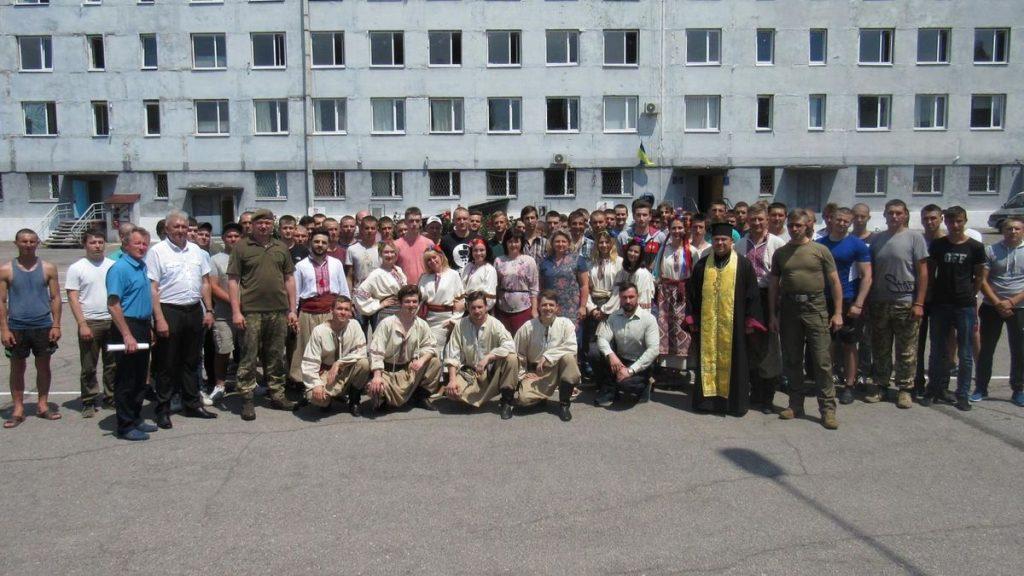 В Запорожье призывников   поздравили с поступлением на службу (ФОТО)