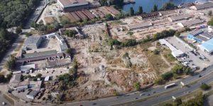 В Запорожье с высоты показали строительство нового ТРЦ (ВИДЕО)