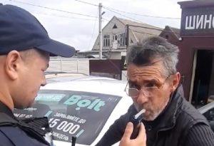 «Я бухой» — в Запорожье водитель службы такси признался полицейским (ВИДЕО)