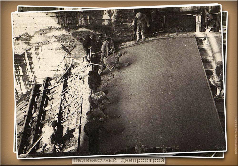 В сети появились уникальные довоенные кадры строительства  ДнепроГЭСа в Запорожье (ФОТО)