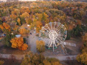Осеннюю «Дубовку» показали в высоты птичьего полета в Запорожье (ФОТО, ВИДЕО)