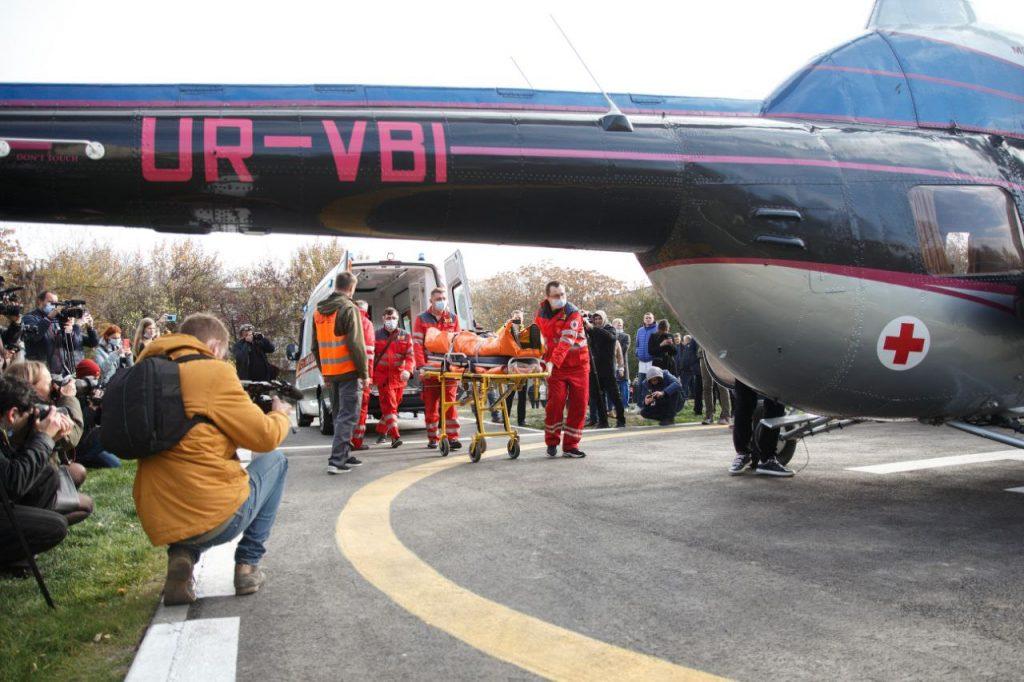 Новый вертолет от «Мотор Сич» будет доставлять пациентов в Запорожскую облбольницу (ФОТОРЕПОРТАЖ)